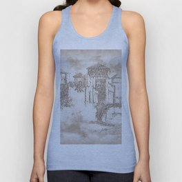Ancient Medieval Castle Unisex Tank Top