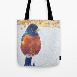 Robin in the Rain Tote Bag