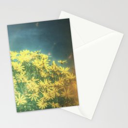 Yellow Vintage Daisy - Margaritas Amarillas Vintage Stationery Cards
