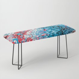 Demonic Toy Poodle Abstract Bench