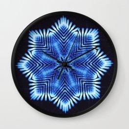 Vibrational Snowflake Wall Clock