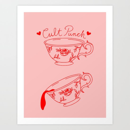 Cult Punch (Pink) Art Print