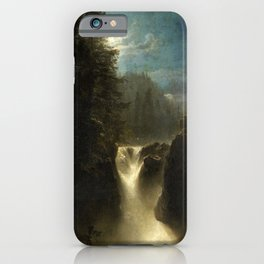Waterfall in the Italian Countryside by Oswald Achenbach iPhone Case