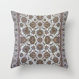 Antique Persian Rug Throw Pillow