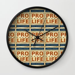 Pro Life Billboard Wall Clock