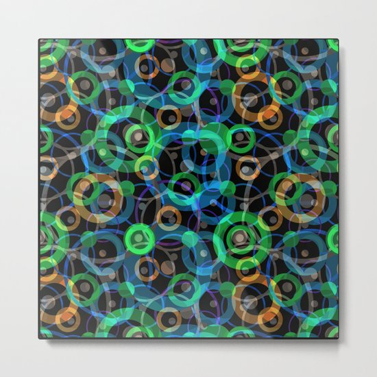 Abstract pattern with circles. Metal Print