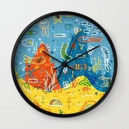 Plastic Sea Wall Clock