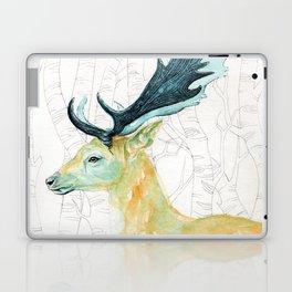 Scandinavian stag illustration Laptop & iPad Skin