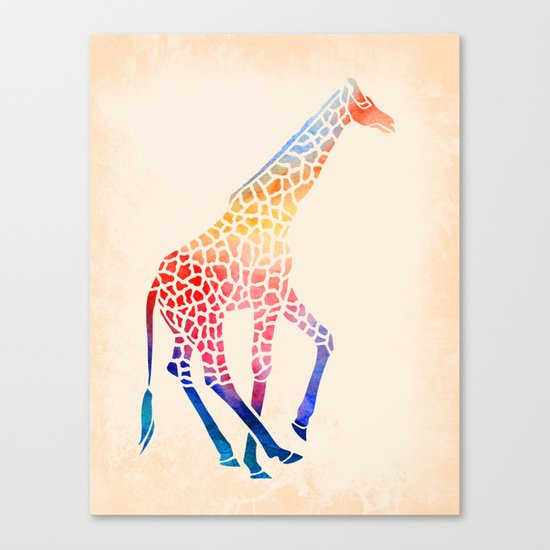 Watercolor Giraffe Canvas Print