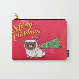 Koko Pug Christmas Red Carry-All Pouch