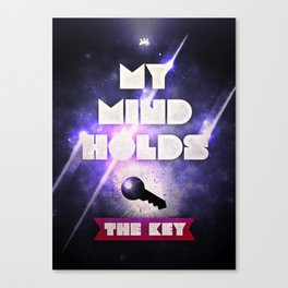 My Mind Holds The Key Canvas Print
