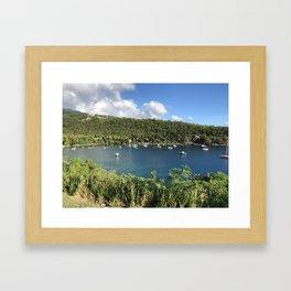 Anse a la Barque Framed Art Print