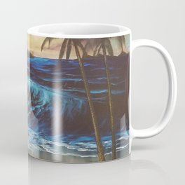 Beach, Tropical Sunset, Waves, by Faye Coffee Mug