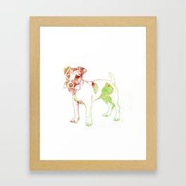 Jack Russel Terrier Framed Art Print