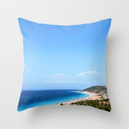 Mountains and the Sea Throw Pillow