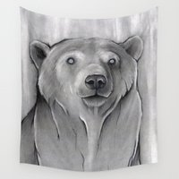 teddy bear Wall Tapestries featuring Teddy Bear by Puddingshades