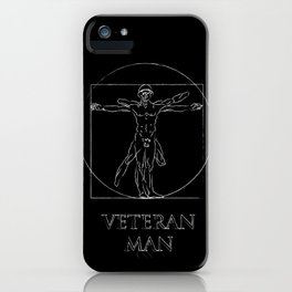 Veteran Man iPhone Case