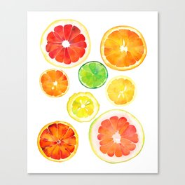 Citrus pattern Canvas Print