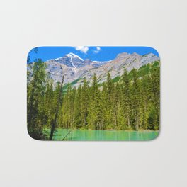 Mt. Robson and the Robson River in British Columbia, Canada Bath Mat