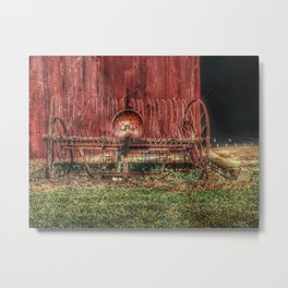 In Front of the Old Barn Metal Print