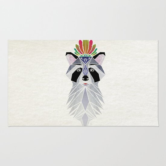 raccoon spirit Rug