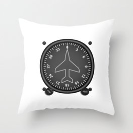 Directional Gyro Flight Instruments Throw Pillow