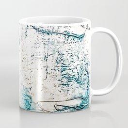 Subtle Blue Textured Acrylic Painting Coffee Mug