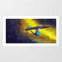 STAR TREK ANIMATED Boldly Go 14 Art Print