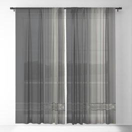 Modern Black Ribbon Pattern Design Sheer Curtain