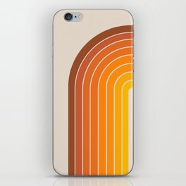 Gradient Arch - Vintage Orange iPhone Skin