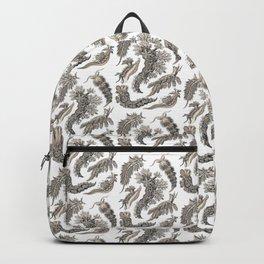 Ernst Haeckel Nudibranch Sea Slugs Monochrome Silver Backpack