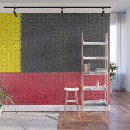 Yellow Grey Red Wall Mural