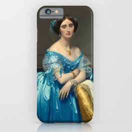 """Jean-Auguste-Dominique Ingres """"Éléonore-Marie-Pauline de Galard de Brassac de Béarn (1825–1860), princesse de Broglie"""" iPhone Case"""