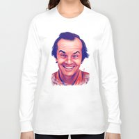 jack nicholson Long Sleeve T-shirts featuring Young Jack Nicholson and the evil smile - digital painting by Thubakabra