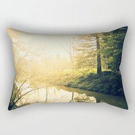 Finally at peace Rectangular Pillow