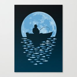 Hooked by Moonlight Canvas Print