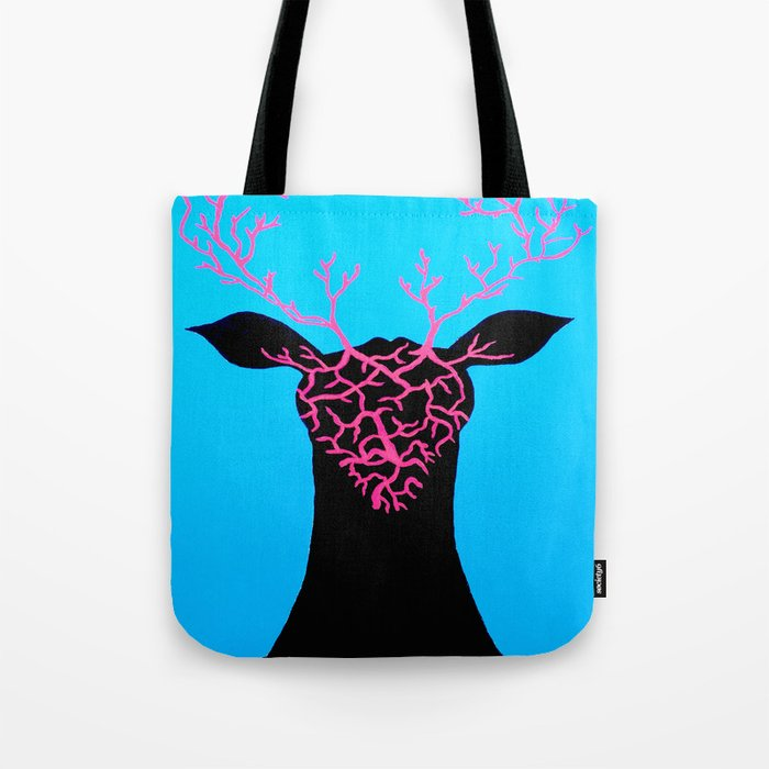Colourful Stag Canvas Tote Bag