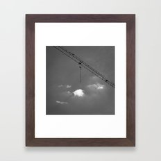 Crane & clouds Framed Art Print