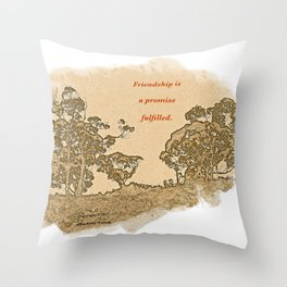 """""""Trees Of Catalina #2""""/Simple Friendship Throw Pillow"""