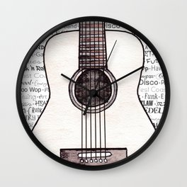 Music for the Soul & Spirit - Acoustic Series Wall Clock