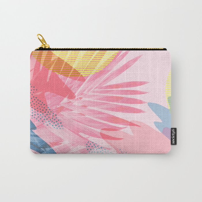 Pastel Jungle Carry-All Pouch