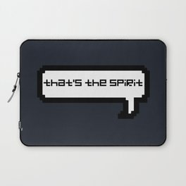 That's The Spirit - Navy Laptop Sleeve