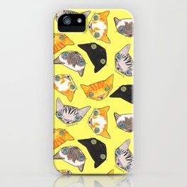 """""""Oro?"""" Cats-Canary Yellow iPhone Case"""