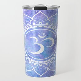 Om Mandala Lavender Periwinkle Blue Galaxy Space Travel Mug