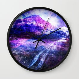 Abstract Mountain Landscape Wall Clock