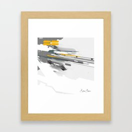 Dynamic Vector and Patterns Framed Art Print