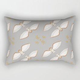 Barn Owl on Sunburst Rectangular Pillow