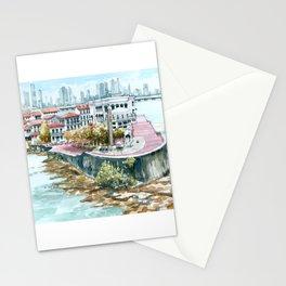Panama City Watercolor - Panama Stationery Cards