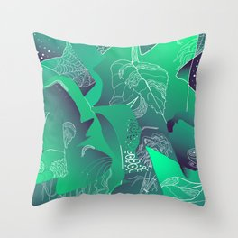 Viridian Throw Pillow