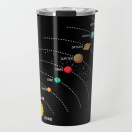Solar System In A Row Travel Mug